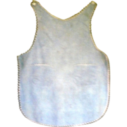 Old Washed Blue Linen Child's NJ  Farm Apron Pinafore