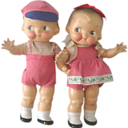 """Fine 12"""" Pair of 1948 Horseman Compo Campbell Kids"""
