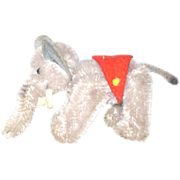 SOLD 4 Inch Schuco Circus Elephant Fully Jointed Bead Eyes Red Blanket
