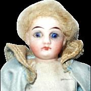4.75 Inch Bisque Head Boy Cobalt Eyes Closed Mouth Factory Original Curl Blond Mohair ...