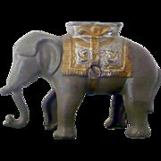 "REDUCED Cast Iron  A. C. Williams ""Swinging Trunk"" Elephant Bank Good Original Paint"