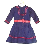 19th Century Mariner Dress for Larger  French Bebe or German Doll