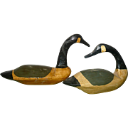 SOLD 2 Signed L.M. Cranmer Miniature Wood Tuckerton NJ Brant Decoys