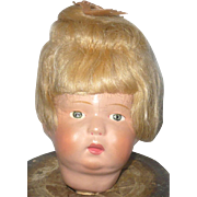 Schoenhut Toddler Head Great Face Paint and Wig