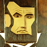 American Art - Lincoln Square - Contemporary Pop Cubist Oil Painting