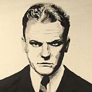 American Art - James Cagney: Vintage Original Portrait Painting