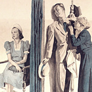 American Art - Edmund Ward (1892-1990): The Date - Original Illustration Art