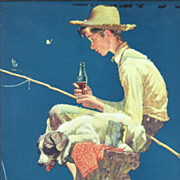Norman Rockwell: Out Fishin' - 1935 Coca-Cola Calendar