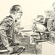"""American Art - Hal Stone: """"Accuse Someone of Murder?"""" 1961 story illustration"""