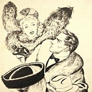 "American Art - Hal Stone: 'Wait For Me!"", 1943 story illustration"