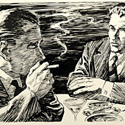 """American Art - Hal Stone: """"Can We Make a Deal?"""", 1958 story illustration"""