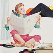 """American Art - Paul Burns: Too Close for Comfort"""", Original Illustration Art"""