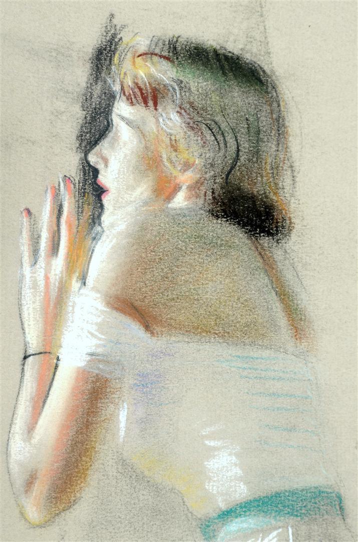 "American Art - Tom Lovell: ""Fire Outside the Window"" preliminary study"