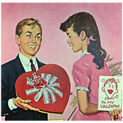 American Art - Bruce Howson: Valentine Display Board and Original Sketch