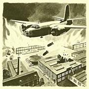 American Art - Bruce Howson: Bombing an Industrial Complex