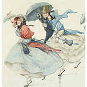 Margaret Hamilton (GB, 1867-1952) - Windy Day