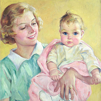 American Art - Eleanor B. Campbell: Introducing Baby