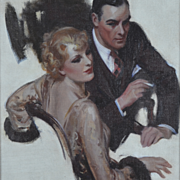American Art - Harold N. Anderson Original Illustration Art Oil on Board