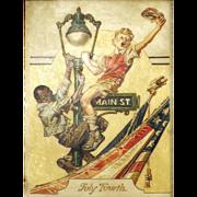 American Art - After J.C. Leyendecker: Vintage Illustration Oil on Board