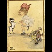 British Art - Antique Mabel Lucie Attwell Original Watercolor