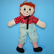 Raggedy Andy Doll Orange Hair 21 Inch
