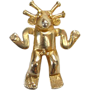 Alva Museum Replicas Aztec God Pendant C1974 Worcester Art Museum Massachusetts