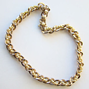 Vintage Barclay Choker Necklace Gold Tone Faux Pearl Double Twist Chain Signed
