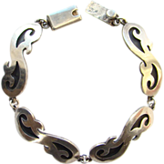 Taxco Mexico Vintage Sterling Silver Link Bracelet TA-18 MSR