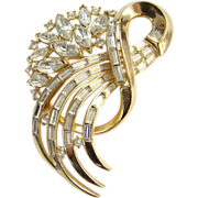 C1955 Crown Trifari Comet Brooch Alfred Philippe Designer Signed