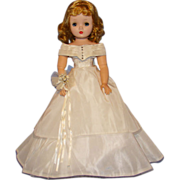Vintage White Taffeta Bride Gown for Madame Alexander Cissy Doll Fabulous