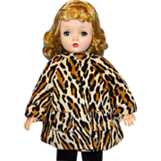 Vintage Leopard Print Faux Fur Coat for Madame Alexander Cissy Doll