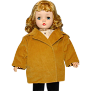 Vintage Tan Corduroy Car Coat for Madame Alexander Cissy Doll