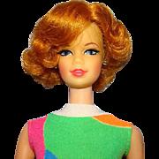 Barbie Stacey Doll Twist n Turn TNT C1967 Short Flip Titian Red Hair Original Swimsuit