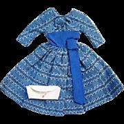 Barbie Doll Let's Dance 1960-62 Blue Dress White Clutch Purse Pristine Mint