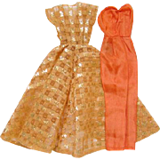 Barbie Doll Dinner at Eight Hostess Bittersweet Silk Pajama and Coat 1963-64 Pristine Mint Con