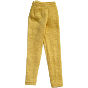 Barbie Doll Gold Knit Slacks 1963 Pristine Mint Condition