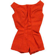 Barbie Doll Red Scoop Neck Playsuit 1962-63 Pristine Mint Condition