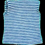 Barbie Doll Resort Set Blue White Striped Sleeveless Shell Top 1959-62 Pristine Mint Condition