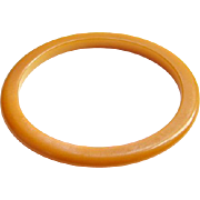 Vintage Bakelite Bangle Bracelet Spacer Butterscotch Yellow Costume Jewelry