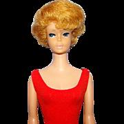 Bubblecut Barbie Doll C1964 Strawberry Blonde Hair Pink Lips Original Swimsuit As-Is