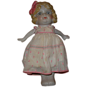 Vintage Bisque Japanese Baby Doll Figurine in Dress