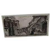REDUCED Antique Engraving by Giovanni Piranesi