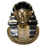 Vintage Erwin Pearl Signed Egyptian Revival Pin Brooch