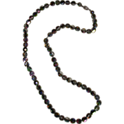 REDUCED Beautiful Vintage Crystal Beaded Necklace on Chain