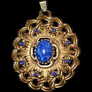 REDUCED Vintage Signed Florenza Pendant Costume Jewelry
