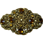 REDUCED Lovely Old Vintage Czech Brooch Pin