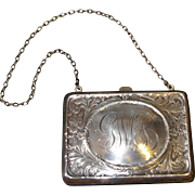 Antique Victorian Sterling Silver Purse