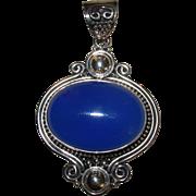 SALE Sterling Silver Large Pendant