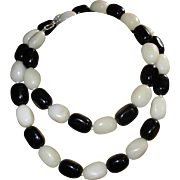 SALE Beaded Chunky Black Onyx Necklace