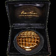 SOLD Vintage Estee Lauder Golden Alligator Compact in Original Box